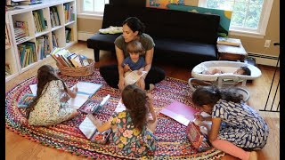 First Day of Homeschool Mom of 5
