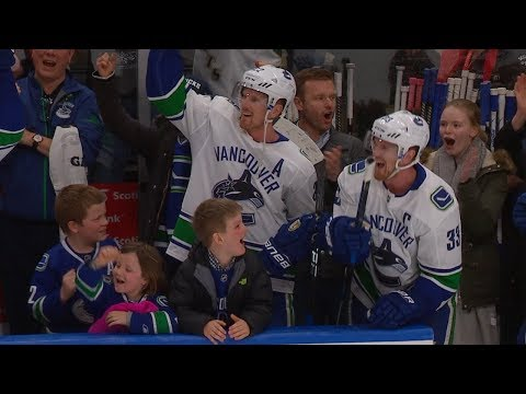 Sedins close amazing career with family on the bench