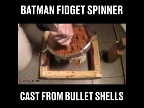 "How To Make A""BATMAN FIDGET SPINNER"""