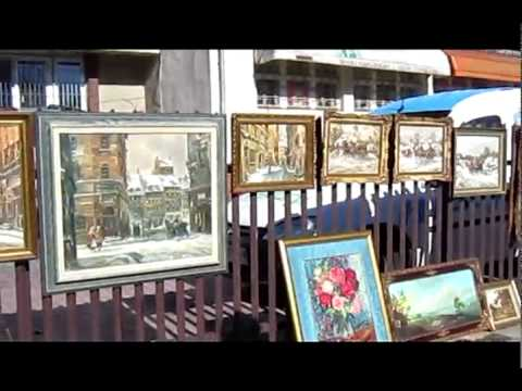 Antique market in Warsaw of Poland - visted by vietnampathfinder.com