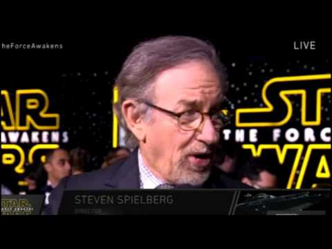 Steven Spielberg Interview - Star Wars The Force Awakens Red Carpet