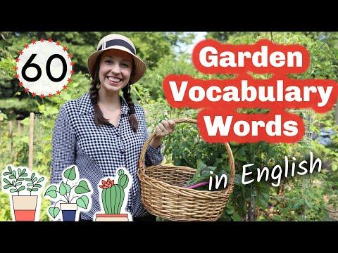 60 Garden Vocabulary Words: Advanced English lesson