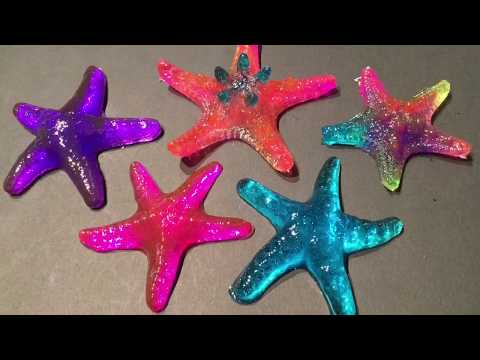 HOW TO - MAKE SILICONE MOLDS WITH WATER & DISH SOAP  & RESIN STARFISH