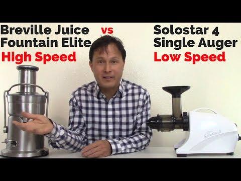 Breville Juice Fountain Elite vs Solostar 4 Slow Juicer Comparison Review