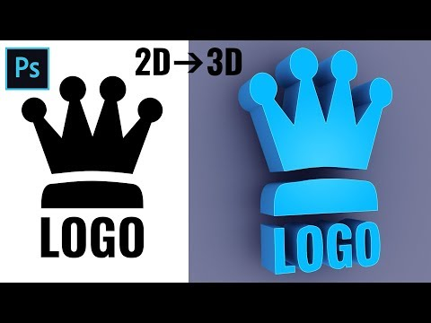 How to Convert 2D to 3D Logo in Photoshop