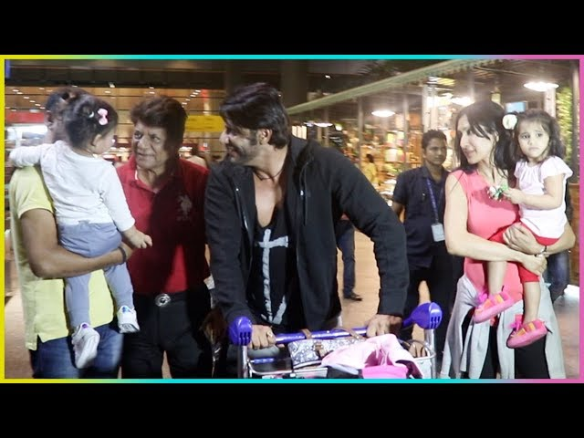 Karanvir Bohra SLAYS The AIRPORT LOOK With His Twins