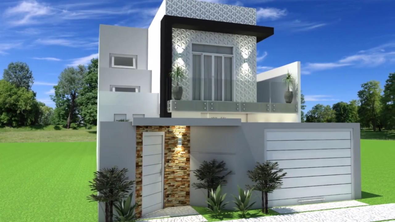 projeto planta casa sobrado 8x25 180 metros moderna