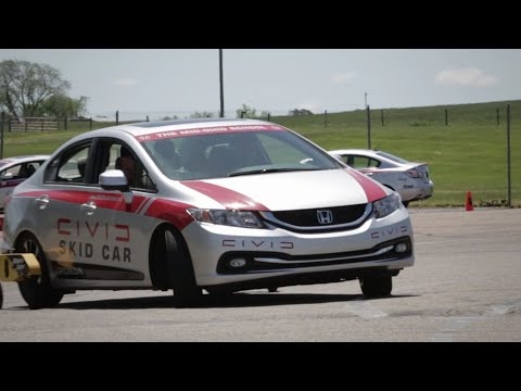 Driver Safety - The Honda Defensive Driving Course - Car Control, Seating and Mirror Adjustments