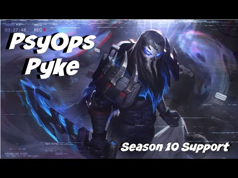 League of Legends: PsyOps Pyke Support Gameplay