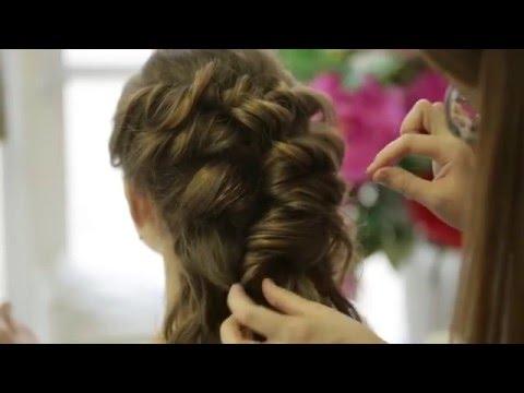 Вечерняя прическа с накладными волосами #1