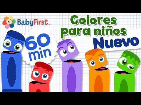 Aprender los Colores en Español para los Niños | Learn Colors in Spanish for kids | Video de 1 Hora