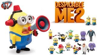 Despicable Me 2 Minion Fireman Action Figure Toy Review, Thinkway Toys