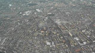 ✈ Lublin z lotu ptaka / kołowanie i start z lotniska on-board