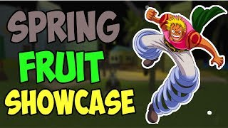SPRING SPRING SHOWCASE DE FRUTAS EM ONE PIECE PIRATE ' S QUEST 3 | ROBLOX ONE PIECE JOGO | AXIORE
