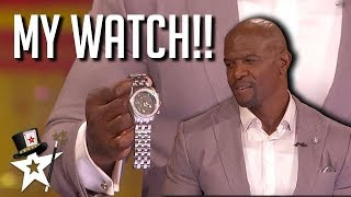 Piff Nearly DESTROYS Terry Crews's DIAMOND Watch!! | America's Got Talent | Top Talent