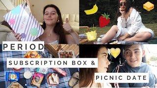 VLOG | Picnic Date & Period Subscription Box?!