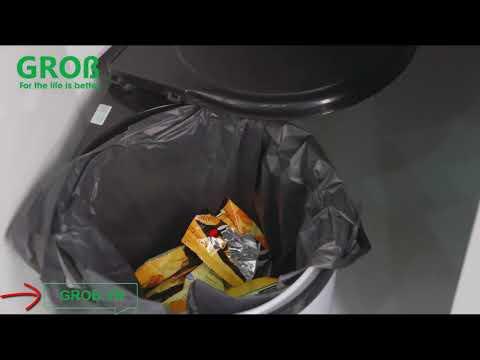 (Grob.vn) Thùng đựng rác Grob gắn cánh