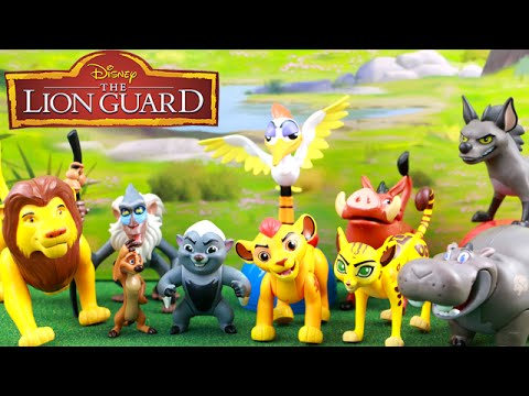 The Lion Guard 10 Piece Deluxe Figure Set Toy Unboxing