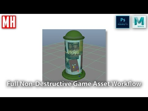 Building a 3D asset library Part 5 : Game assets ( Full Non-Destructive workflow )