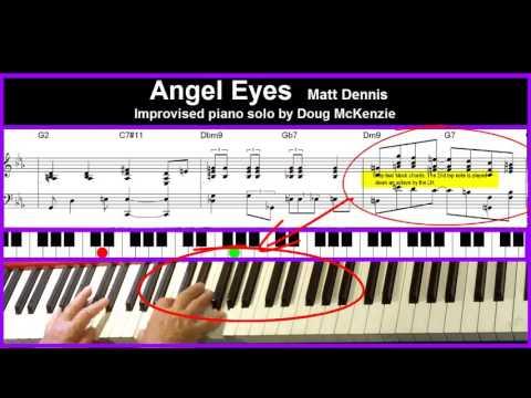 'Angel Eyes' - jazz piano tutorial