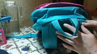 Голубой рюкзак от avon,голубая сумка.