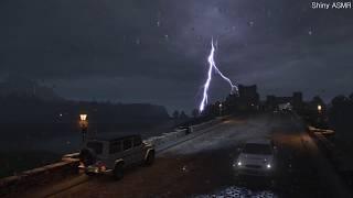천둥 번개 빗소리 폭우 소리 - 2시간 연속 재생, rain sounds asmr, Lightning thunder
