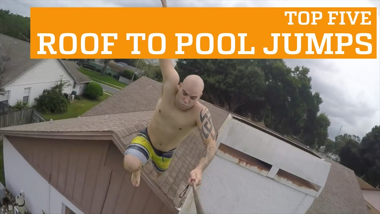 TOP FIVE ROOF TO POOL JUMPS! | PEOPLE ARE AWESOME