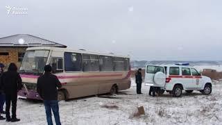 47 ўзбекистонлик -40 совуқда музлаб қолган автобусдан қутқарилди