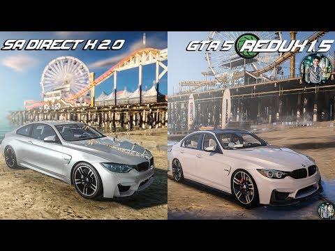 GTA 5 REDUX 1.5 V$ GTA SA DirectX 2.0 Side By Side Graphics Comparison