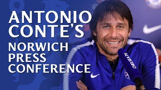Conte talks transfers and provides Ross Barkley update | Chelsea v Norwich City
