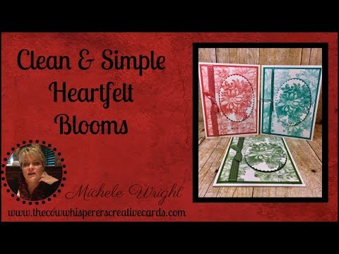 Clean & Simple Card - Heartfelt Blooms & Shimmer Ribbon