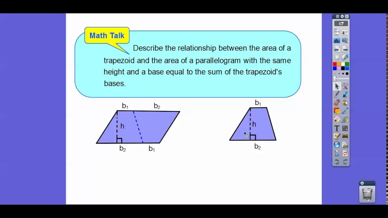 Area Of Trapezoids  Lesson 105