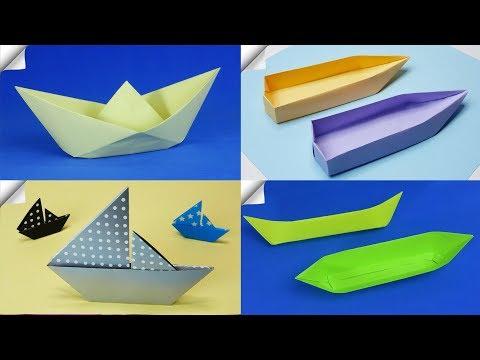 DIY paper crafts for kids   4 Paper boat