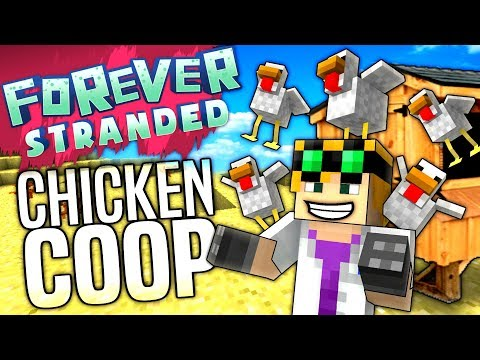 Minecraft - CHICKEN COOP - Forever Stranded #42