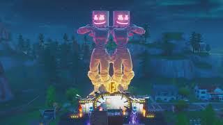 Marshmello Robot Dance During Fortnite Live Event