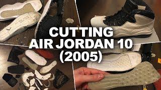 Разрез кроссовок Air Jordan 10 на детали. Cutting ...