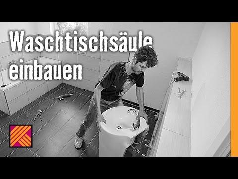 Version 2013 Waschbecken Montieren Waschtischsaule Einbauen