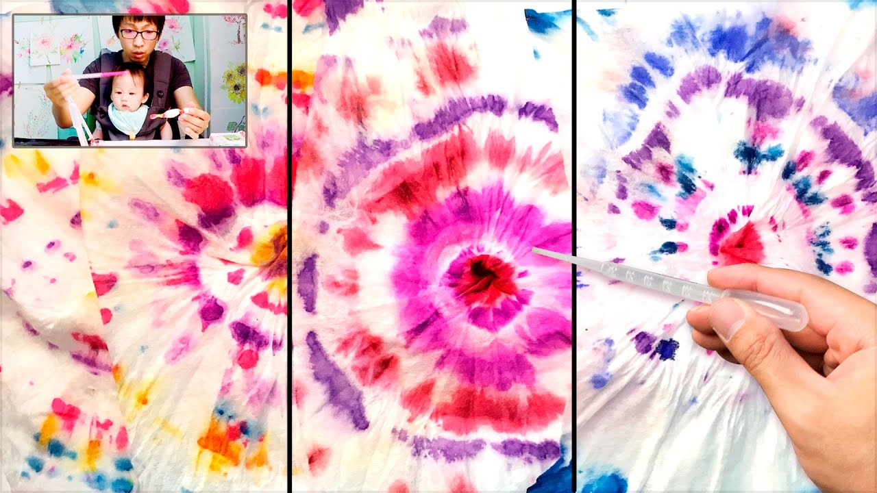 tie dye baby wipes painting technique easy fun art projects youtube