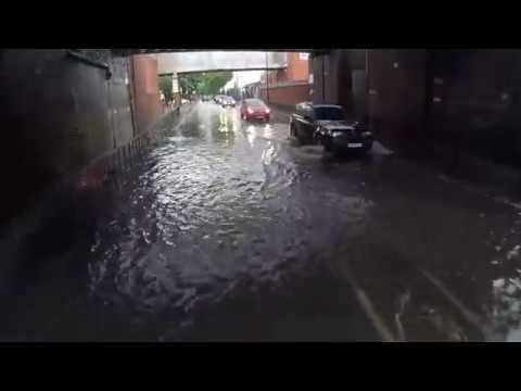 East London Flooded Roads 1st June 2017