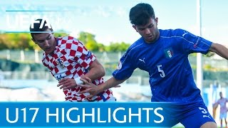 U17 Highlights: Moise Kean scores Italy winner against Croatia