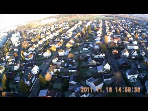 Rc plane with HD cam over Lillestrøm Norway