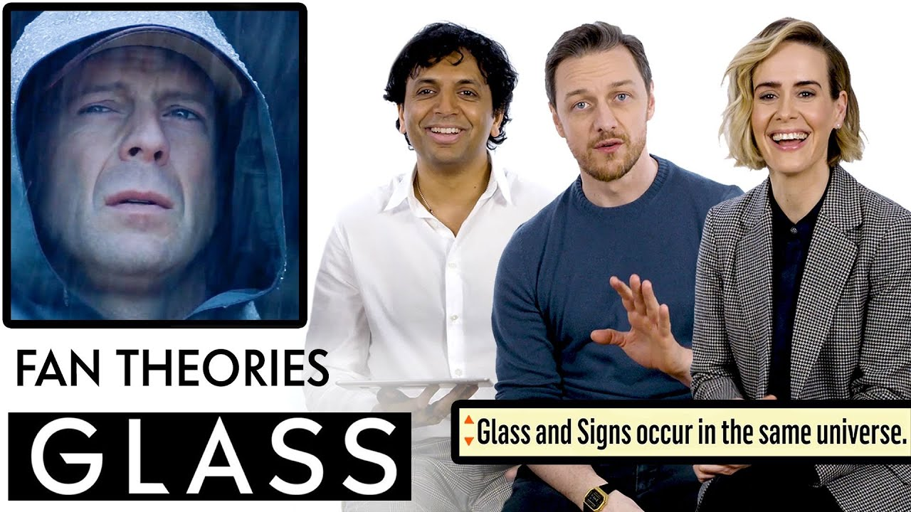 "James McAvoy, M. Night Shyamalan & Sarah Paulson Break Down ""Glass"" Fan Theories from Reddit"