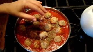 Meatball Sandwich Recipe(receta De Albondigas Con Pan)