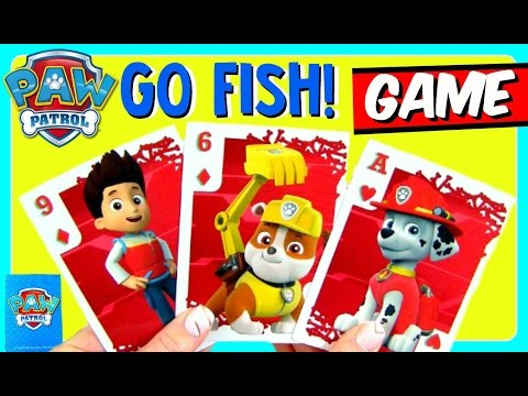 PAW PATROL Go Fish Challenge BOARD GAME With PAW PATROL PUPS! Nickelodeon Fun Games YouTube Video Fo