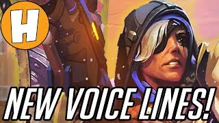 Overwatch - NEW Ana Voice Lines and Interactions! (Heroes of The Storm)