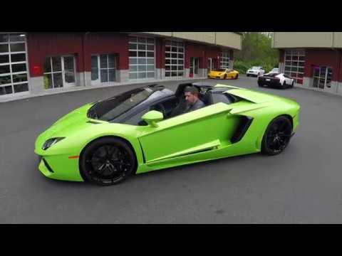 2014 Lamborghini Aventador Roadster Verde Ithaca