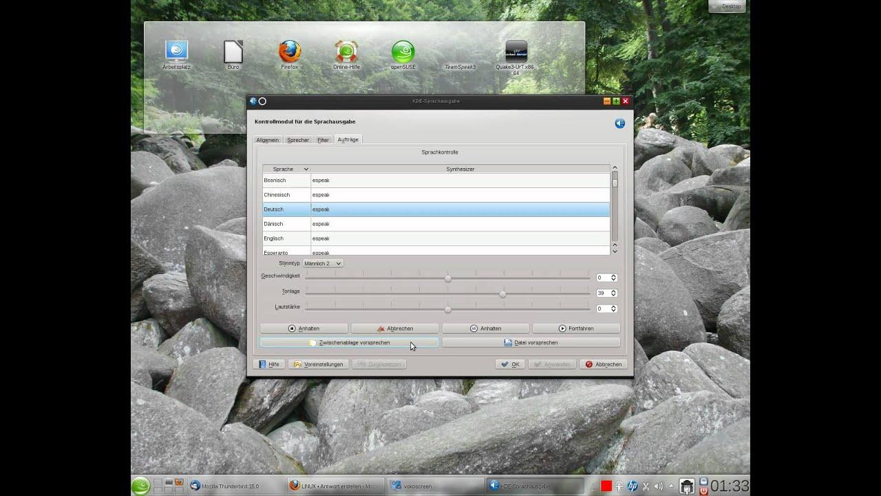 Jovie unter openSUSE und KDE im Test