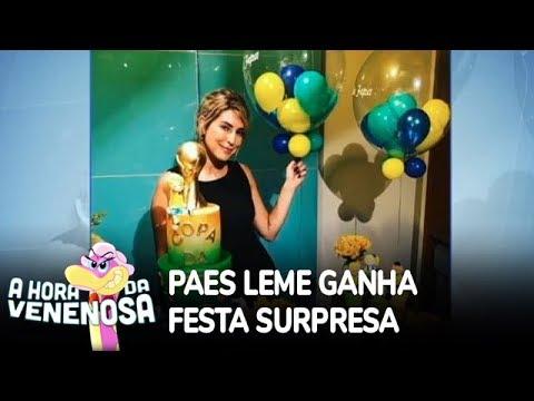Fernanda Paes Leme ganha festa de aniversário surpresa