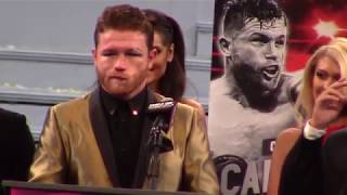 Canelo Alvarez Reacts To Defeating GGG Golovkin. Post Fight Presser. HoopJab Boxing