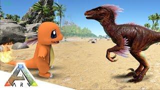 raptor vs charmander ark survival evolved pokemon mod 2